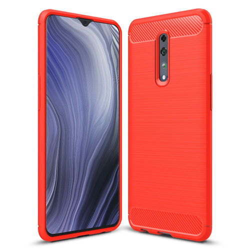 Flexi Slim Carbon Fibre Case for Oppo Reno Z - Brushed Red